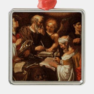 De fyra evangelistsna julgransprydnad metall