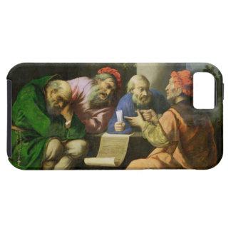 De fyra fäderna av kyrkan (olja på lagd kanfas iPhone 5 skydd