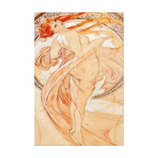 De fyra konsterna - dans, art nouveau canvastryck
