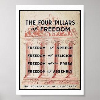 De fyra pelarna av frihet poster