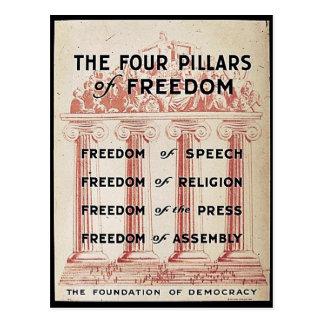 De fyra pelarna av frihet vykort