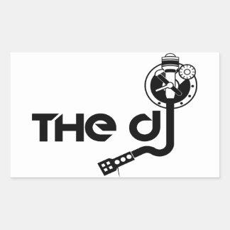 De glansiga klistermärkearna för DJ-rektangel Rektangulärt Klistermärke