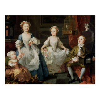 De Graham barnen, 1742 Vykort