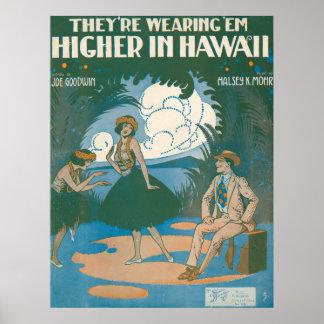 De ha på sig `-Em Higher i Hawaii Poster