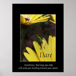 De-Motivational affischtryck för trädgårds- Hopper