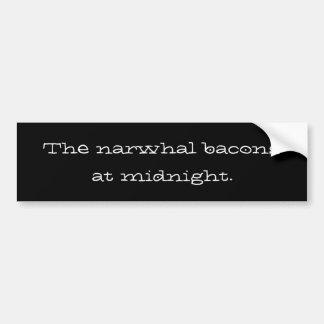 de narwhal bacon på midnatt bildekal