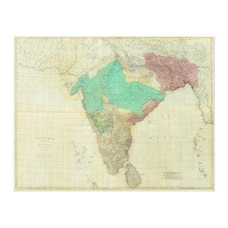 De östliga Indiesna med vägarna av Thomas Jefferys Canvastryck