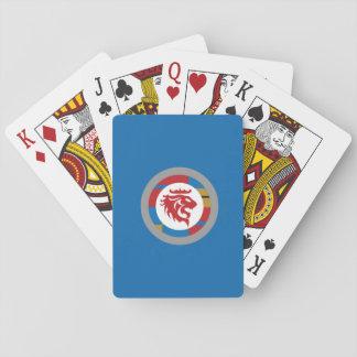 De röda lejona leka korten spel kort