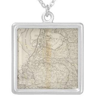 De sju eniga landskapen av Holland 2 Silverpläterat Halsband