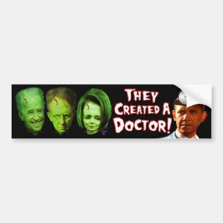 De skapade en doktor! bildekal