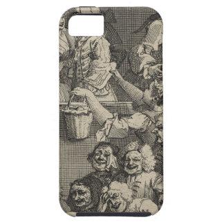 De skratta åhörarna av William Hogarth iPhone 5 Skydd