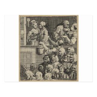 De skratta åhörarna av William Hogarth Vykort