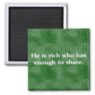 De, som delar, är rikast (2) magnet