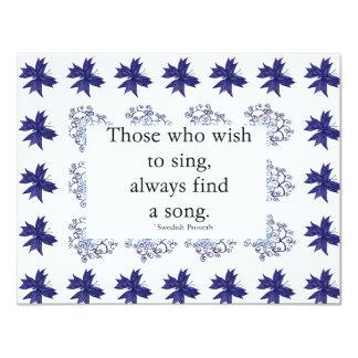 De som önskar att sjunga inbjudan