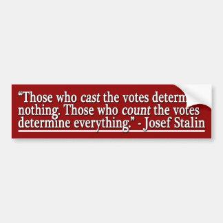 De, som räknar, röstar (bildekalet) bildekaler