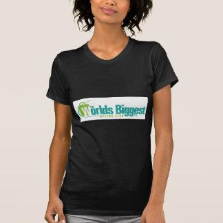 De största världarna: Kvinna inpassad Tee Shirts