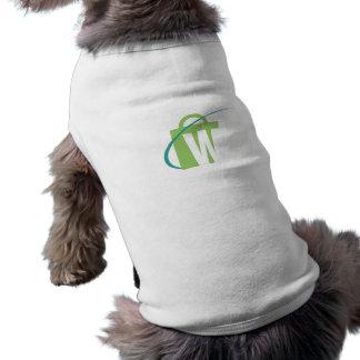 """De största världarna: Logotyp för valplagvit """"W"""" Hund Kläder"""