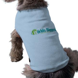 De största världarna: Valplagblått Hund Tee Shirt