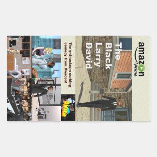 De svart Larry David klistermärkearna Rektangulärt Klistermärke