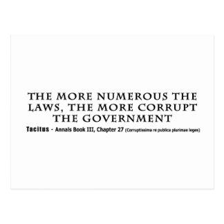 De talrikare lagarna den mer korrumperade vykort
