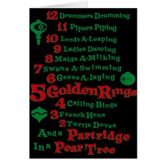 De tolv dagarna av jul hälsningskort