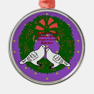 De tolv dagarna av julsamlingen: Dag två Julgransprydnad Metall