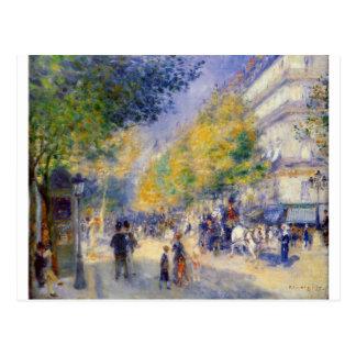 De underbara boulevardsna vid Pierre-Auguste Vykort
