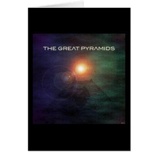 De underbara pyramiderna hälsningskort