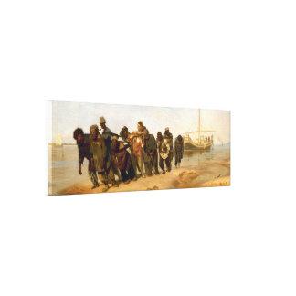 De Volga båtuthyrarna vid Ilya Repin slågen in Canvastryck