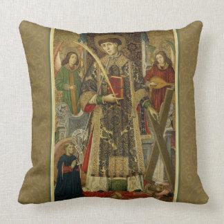 Deacon-Martyren för St. Vincent Saragossa kudder Kudde