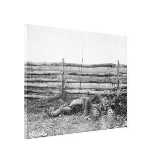 Dead av den Stonewall Jacksons brigaden Hagerstown Canvastryck