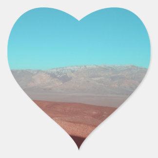Death Valley beskådar Hjärtformat Klistermärke