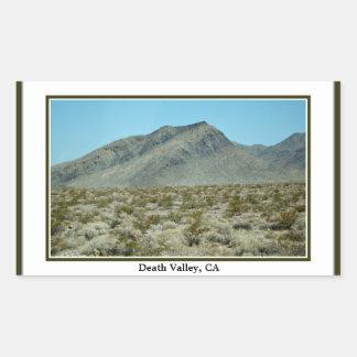 Death Valley CA-klistermärke Rektangulärt Klistermärke