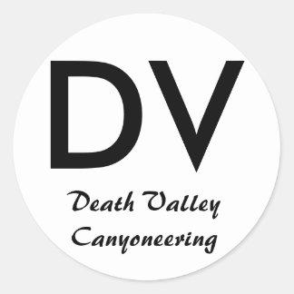 Death Valley canyoningklistermärke Runt Klistermärke