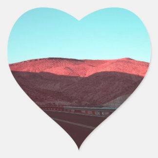 Death Valley Hjärtformat Klistermärke