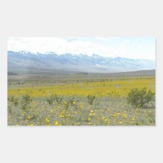 Death Valley i blom Rektangulärt Klistermärke