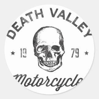 Death Valley motorcyklar Rund Klistermärke