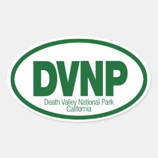 Death Valley nationalpark Ovalt Klistermärke
