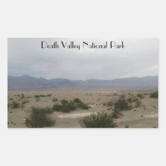 Death Valley nationalpark Rektangulärt Klistermärke