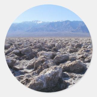 Death Valley plats 07 Runt Klistermärke