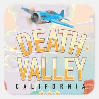 Death Valley USA vintage resoraffisch Fyrkantigt Klistermärke