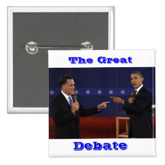 debate-number-21.jpg underbaren, debatt standard kanpp fyrkantig 5.1 cm
