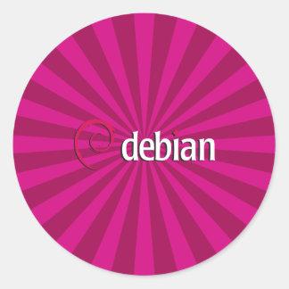 Debian Starburst Runt Klistermärke