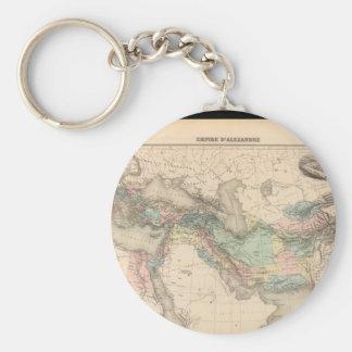 Debilitated världskarta 16 rund nyckelring