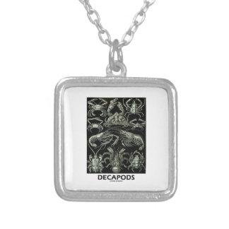 Decapods Ernest Haeckel Artforms av naturen Halsband Med Fyrkantigt Hängsmycke