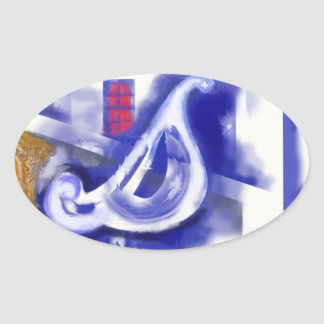 December 12 ovalt klistermärke