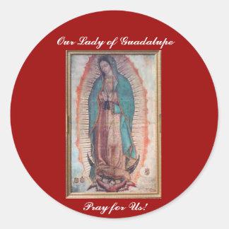 December 12   vår dam av Guadalupe Runt Klistermärke