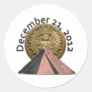 December 21, 2012 Mayan kalender Runt Klistermärke