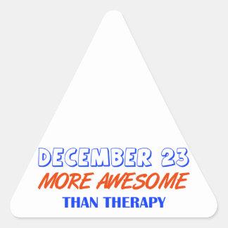 december 23 design triangelformat klistermärke