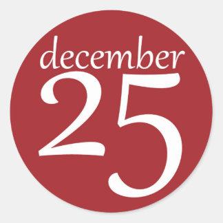 December 25% pipe% rundaklistermärkear runt klistermärke